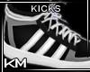 +KM+ Kicks/Socks Blk/Wht