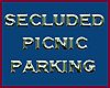 secluded picnic parking