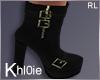 K Niki blk gold boots