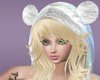 [M]White Furry Hat-Blond