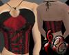 Red & Black Halter Top