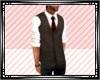Brown Vest & Red Tie