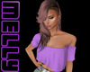MC| Off shoulder purple1