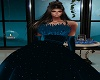 BlueSparkly Feather Gown