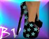 Black & Teal Heels