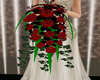 black red wedding boquet