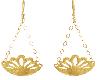 Gold Peacock Earings