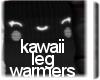 Black Kawaii Leg Warmers