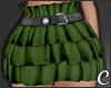 !© Ruffled Skirt Olive