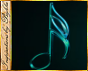 I~Teal Neon Music Note