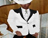 White Cowboy Jacket/Tie