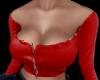 Red off shoulder croptop