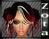 RedBlk(RoseBlonde Hair
