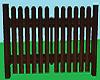 dark brown wood gate