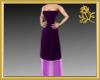 Purple Strapless Gown