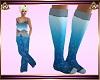AD! Snowflake Socks Blue