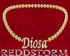 Diosa Bling Choker Gold