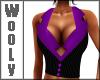 Vest top purple blk
