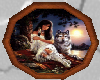 Indian Lady/Wolf 3D Pic
