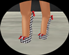 Checkers w Red Bow Shoes