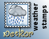 Weather Stamp Rain