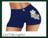 JT Dk Blue Flower Shorts