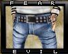 FE blue jeans w/belt
