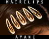 A - HairClips Gold