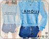 L.  L'Amour Fit Blue
