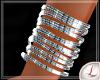 [L] Silver Bracelets L