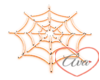Neon Cobweb Orange