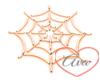 Neon Cobweb Orange