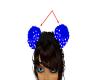 Dark Blue Hair PomPoms