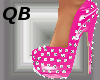 Q~Pink Spiked Platforms