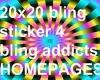 20x20 Sticker BadgeRB