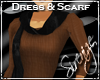 !S! Scarf Dress Brown
