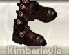 Aviator Boots In Brown F