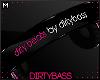 !B Blk Pink Headphones M