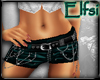 E~ Teal leather shorts