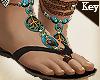 (Key)Leather Boho sandal