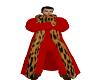 men fur coat red lepord