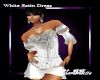 MB White Satin Dress