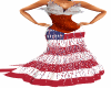 Flag Feather Gown.