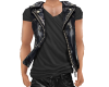 NV Leather Vest w/Black