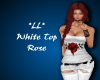 *LL*White Rose Top