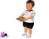 Boy toddler with book
