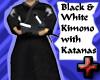 Black Kimono w/2 Katanas