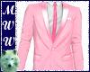 Pink Suit Jacket w/Tie