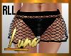 RLL Black Net Mini SKirt