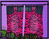 Pink Zebra Curtain